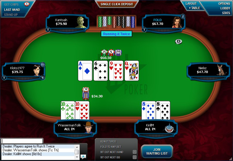 If Your Bluffs Are Called winning hands
